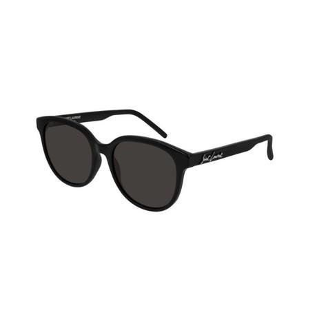 Saint Laurent // Unisex Logo Round Sunglasses // Black