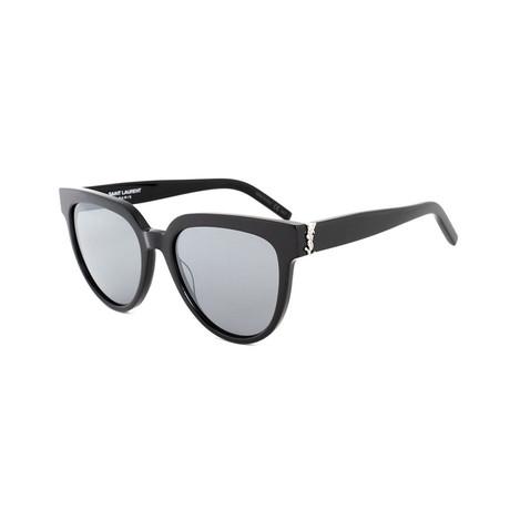 Saint Laurent // Unisex SLM28 Round Sunglasses // Black