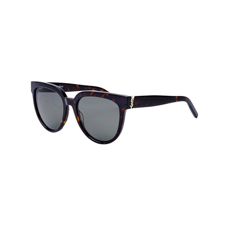 Saint Laurent // Unisex Round Sunglasses // Havana Brown I