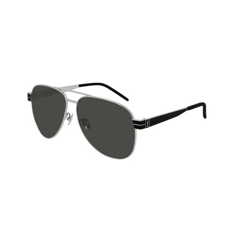 Saint Laurent // Unisex SLM53 Pilot Aviator Sunglasses // Black II