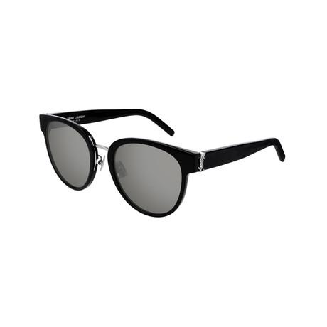 Saint Laurent // Unisex SLM38K Round Sunglasses // Black