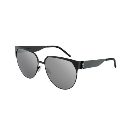 Saint Laurent // Unisex SLM43 Round Sunglasses // Black II