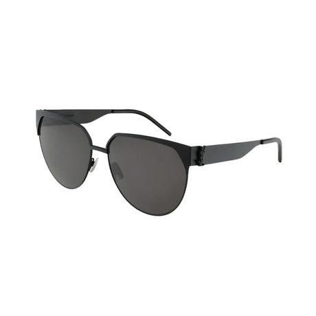 Saint Laurent // Unisex SLM43 Round Sunglasses // Black