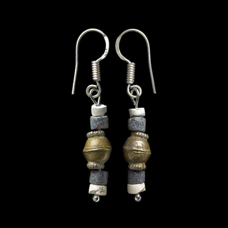 Ancient Sumerian Bead Earrings