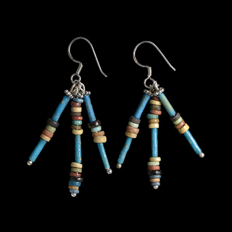 Egyptian Bead Earrings // Beads c. 1570-535 BC