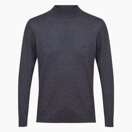 Woolen Light Mock Neck Sweater // Anthracite (S)