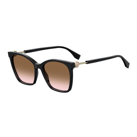 Fendi // Women's Sunglasses // Black + Brown + Pink Gradient