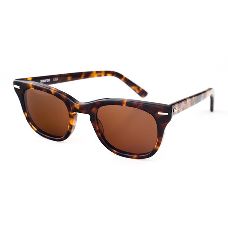 Freeway Polarized Sunglasses // Amber Frame + Brown Lens (Small)