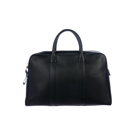 Buckley Grained Leather Briefcase // Slim // Black