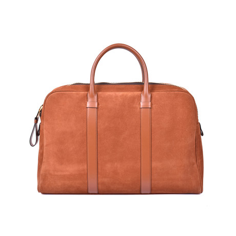 Buckley Smooth Suede Briefcase // Large // Ginger