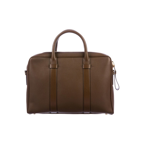 Buckley Grained Leather Briefcase // Slim // Cognac