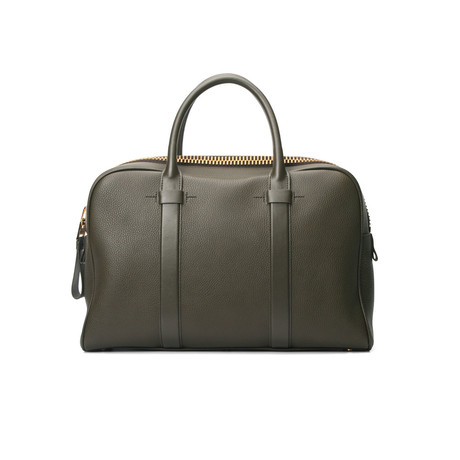 Buckley Grained Leather Briefcase // Medium // Green