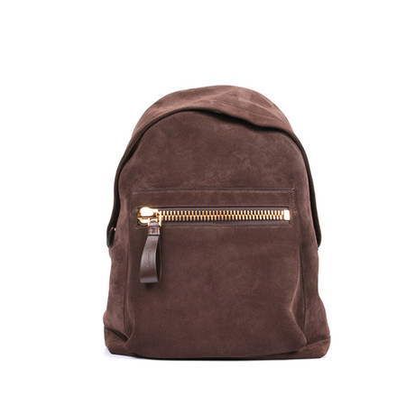 Smooth Suede Backpack // Brown