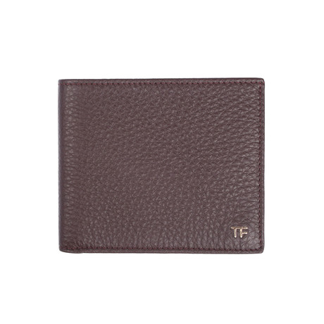 Men's Grained Leather Wallet // Brown