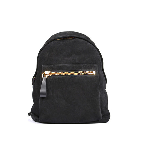 Smooth Suede Backpack // Black