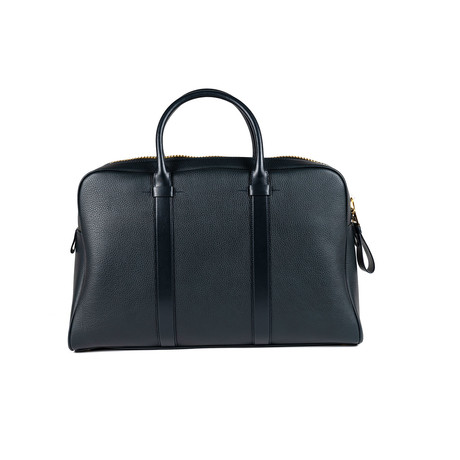 Buckley Grained Leather Briefcase // Medium // Blue