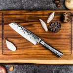 Forged Intense Santoku Knife + Luxury Wooden Gift Box