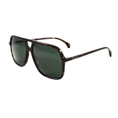 Men's GG0545S Sunglasses // Havana + Green
