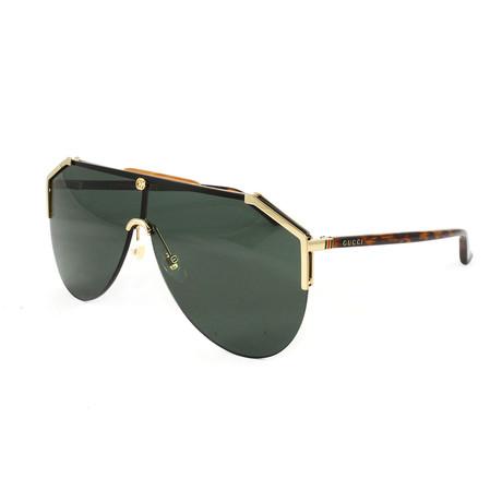 Men's GG0584S Sunglasses // Gold + Havana + Green