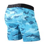 Entourage Boxer Brief // Topo Camo Teal (S)