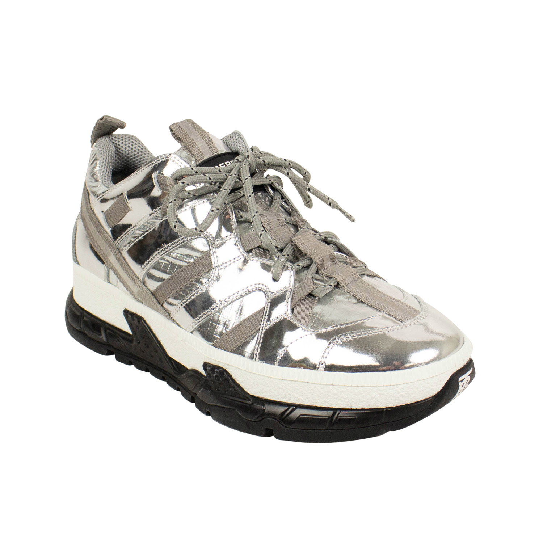 Women's Metallic Leather Union Sneakers