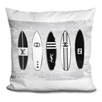 """Surf Boards Throw Pillow (16"""" x 16"""")"""