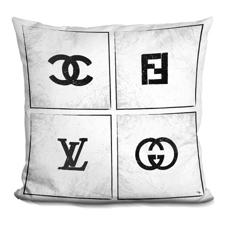 "Brand Logos Throw Pillow (16"" x 16"")"