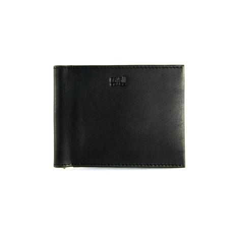 Cavalli Class // Smooth Money-Clip Bi-Fold Wallet // Black