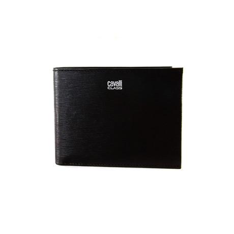 Cavalli Class // Textured Bi-Fold Wallet // Brown