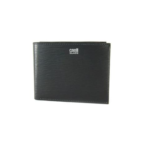 Cavalli Class // Textured Bi-Fold Wallet // Gray
