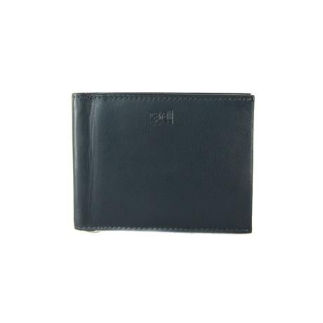 Cavalli Class // Smooth Money-Clip Bi-Fold Wallet // Gray