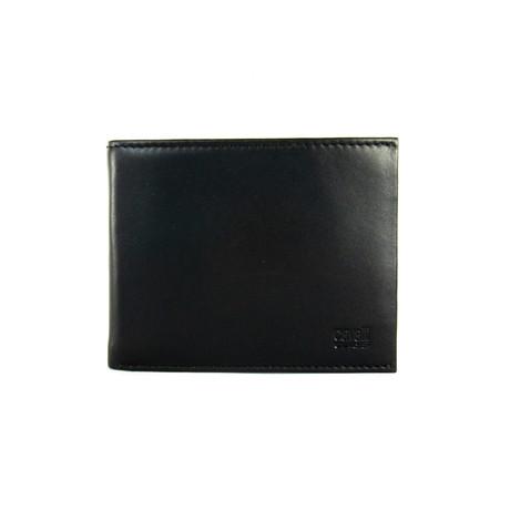 Cavalli Class // Smooth Bi-Fold Wallet // Black
