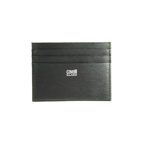 Cavalli Class // Textured Cardholder Wallet // Gray