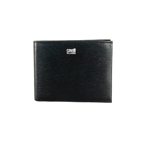 Cavalli Class // Textured Bi-Fold Wallet // Black