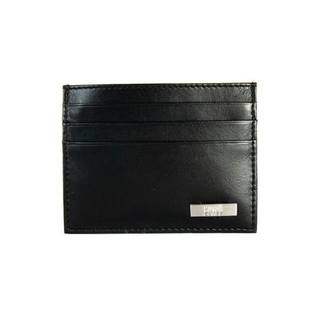 Cavalli Class // Stainless Logo Cardholder Wallet // Black