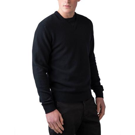 Wool V-Neck Sweater // Black (XS)