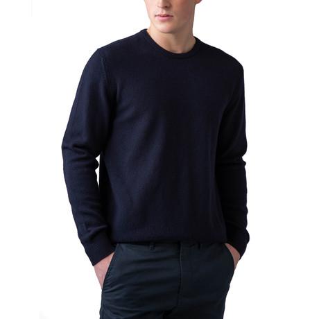 Cashmere Crew Neck Sweater // Navy (XS)