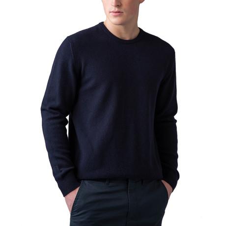 Wool Crew Neck Sweater // Navy (XS)