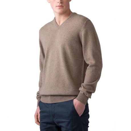 Cashmere V-Neck Sweater // Otter (XS)