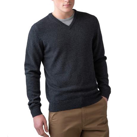 Cashmere V-Neck Sweater // Carbon (XS)