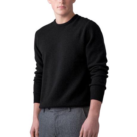 Wool Crew Neck Sweater // Black (XS)