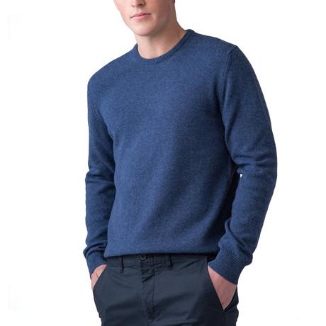 Cashmere Crew Neck Sweater // Bluewash (XS)