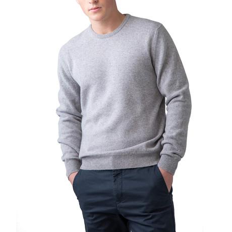 Wool Crew Neck Sweater // Silver (XS)