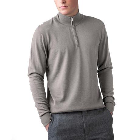 Cashmere 1/4 Zip Sweater // Otter (XS)