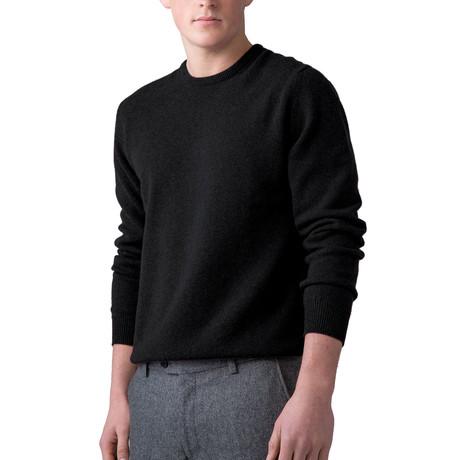Cashmere Crew Neck Sweater // Black (XS)