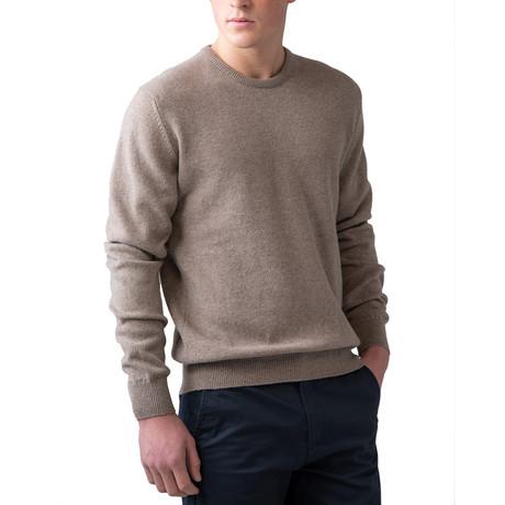 Wool Crew Neck Sweater // Mushroom (XS)