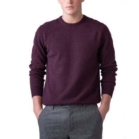 Cashmere Crew Neck Sweater // Cabernet (XS)