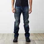 "Darron Reg Slim Tapered Jeans // Dark Blue // 32"" Inseam (26WX32L)"