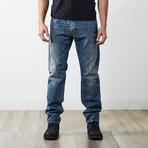 """Krayver I Reg Slim Carrot Jeans // Blue // 32"""" Inseam (27WX32L)"""