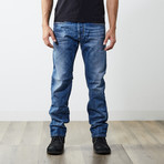 "Akee Reg Slim Tapered Jeans // Blue // 32"" Inseam (26WX32L)"